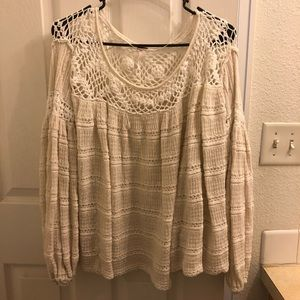 Free People Crochet Knit